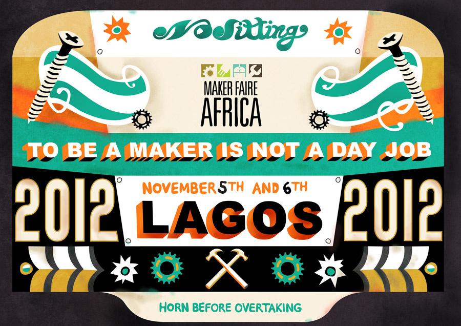 Maker Faire Africa Lagos 2012 poster