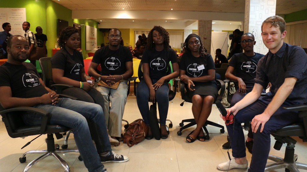 Hackathon Participants with a British Council rep